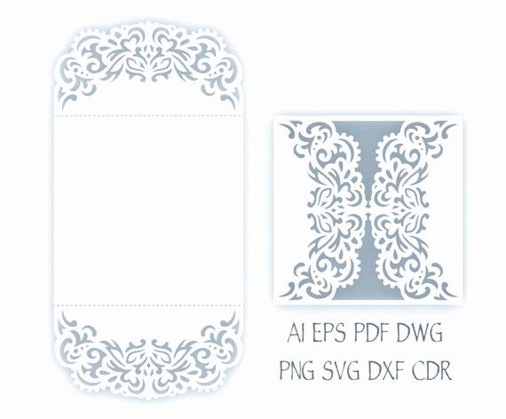 svg wedding invitation 5x5 gate fold