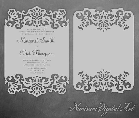Free Wedding Invitation Svg Files New Laser Cut Lace Cards 5x7 Wedding Invitation Frame