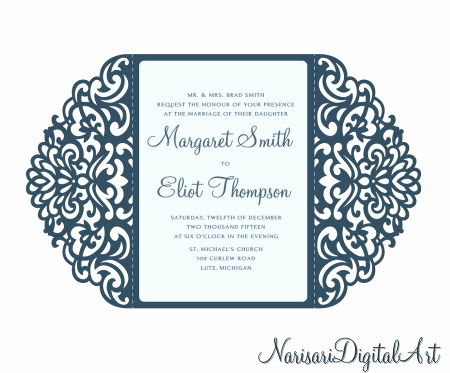 Free Wedding Invitation Svg Files New ornamental 5x7 Gate Fold Wedding Invitation Card