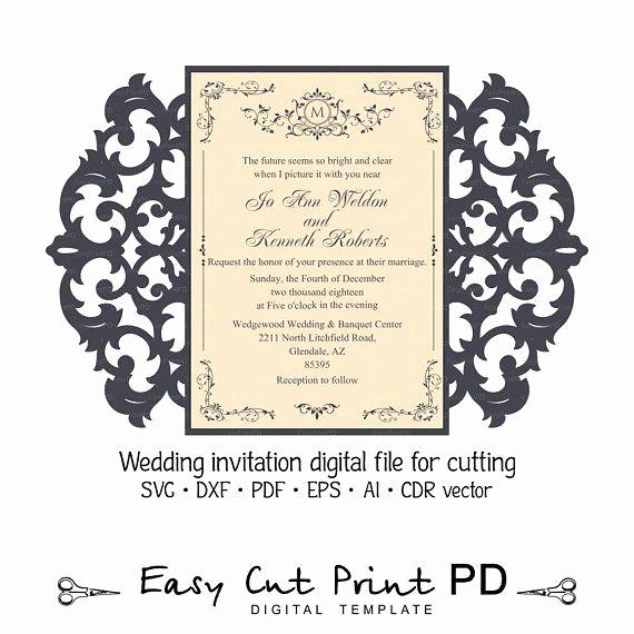 Free Wedding Invitation Svg Files Unique the 251 Best Wedding Invitation Templates Cutting Files
