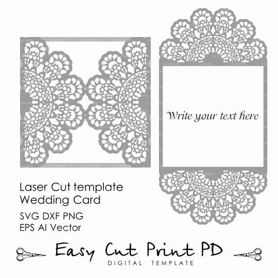 Free Wedding Invitation Svg Files Unique Wedding Invitation Lace Crochet Doily Pattern Card Template