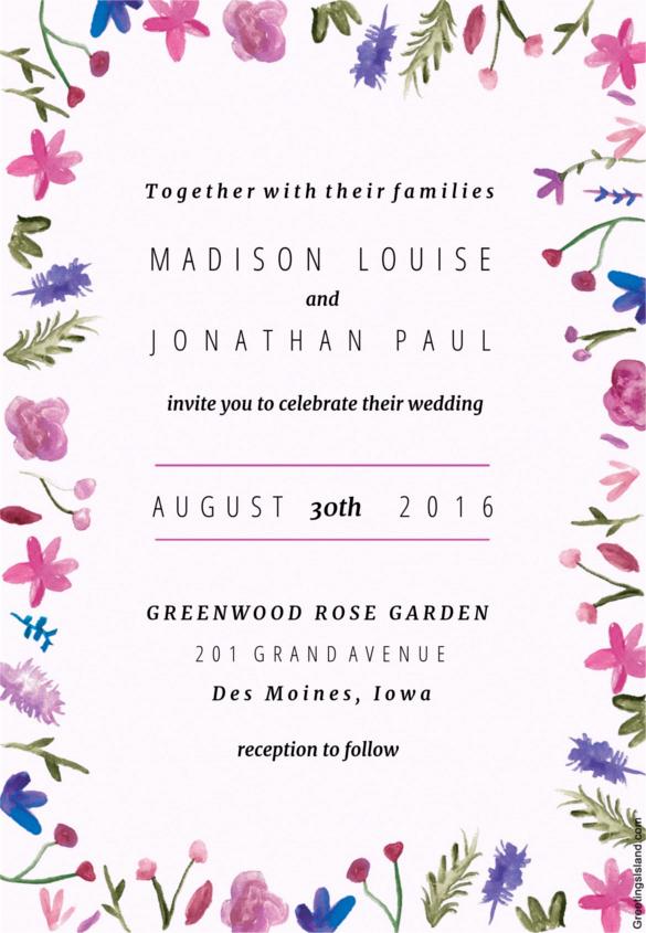 Free Wedding Invitation Templates Download Inspirational Wedding Invitation Template – 71 Free Printable Word Pdf