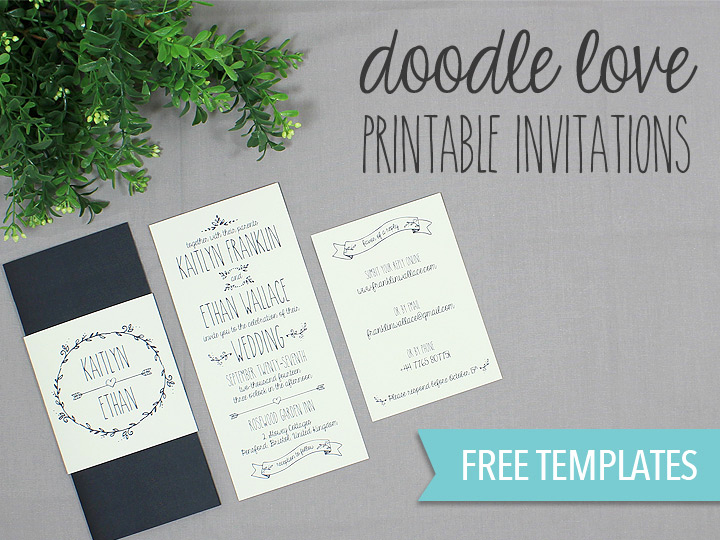 Free Wedding Invitation Templates Downloads Inspirational Doodle Love Printable Wedding Invitation Set