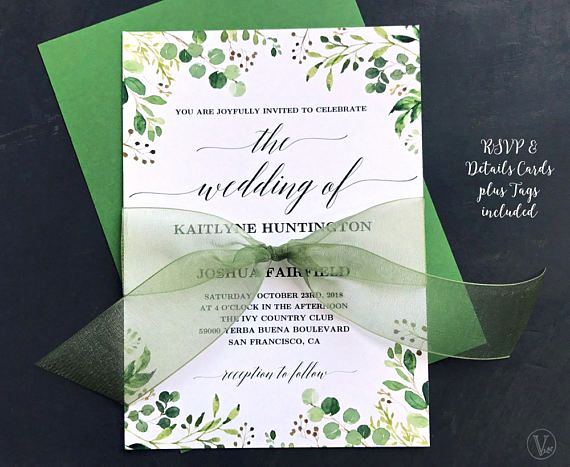 Free Wedding Invitation Templates Downloads New Rustic Greenery Wedding Invitation Printable Greenery