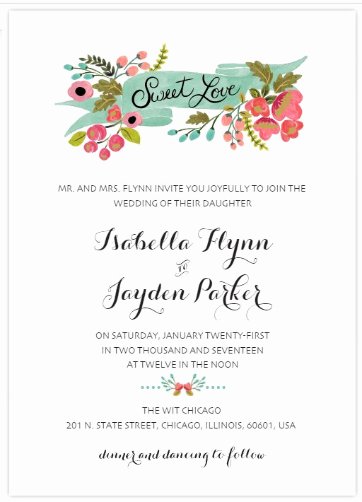 Free Wedding Invitation Templates Elegant 529 Free Wedding Invitation Templates You Can Customize