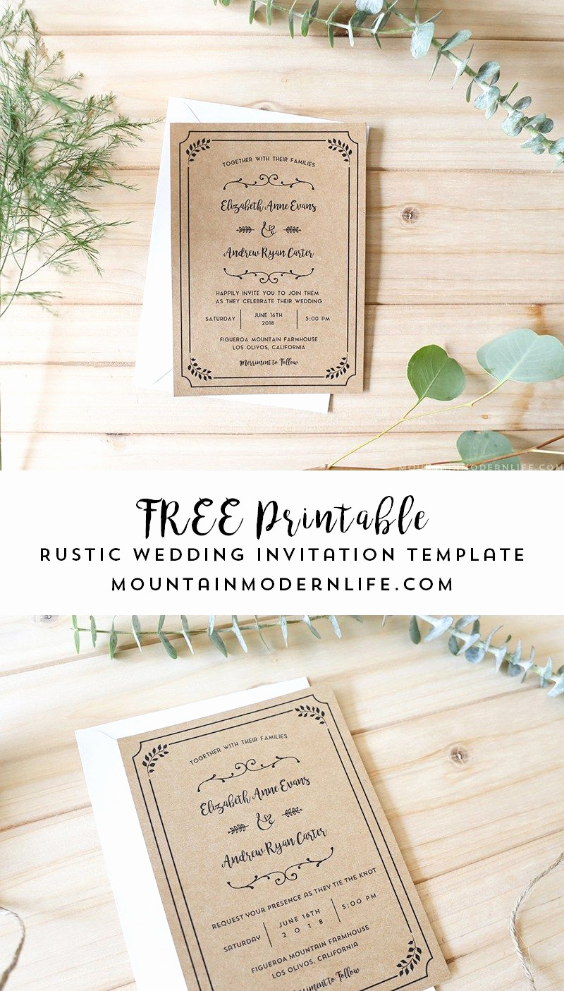 Free Wedding Invitation Templates Fresh Free Printable Wedding Invitation Template