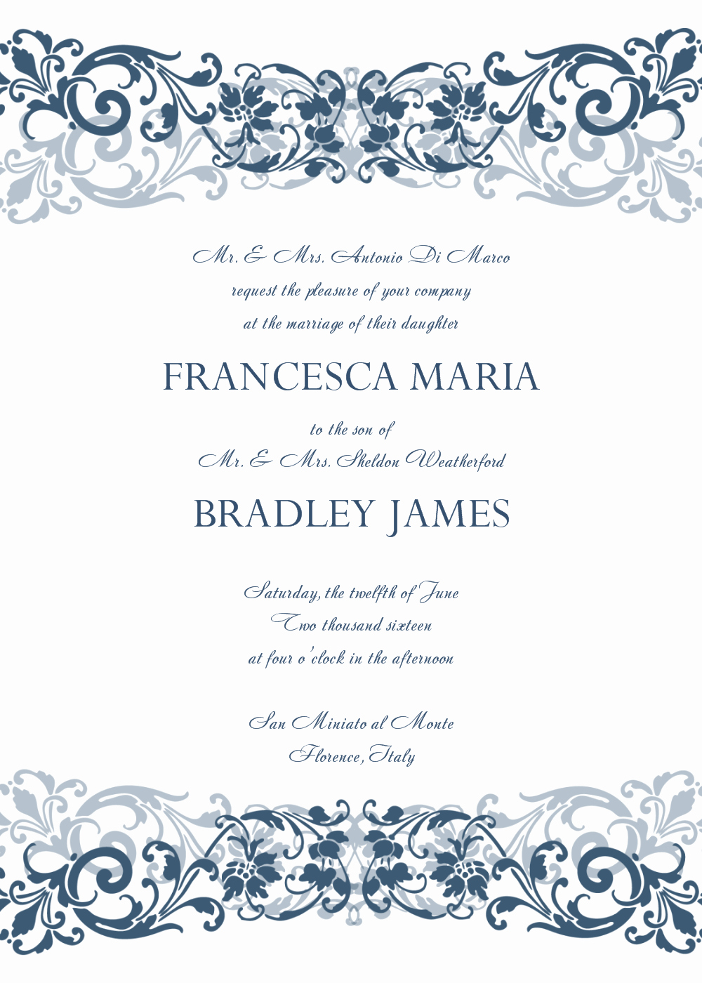 Free Wedding Invitation Templates New 30 Free Wedding Invitations Templates