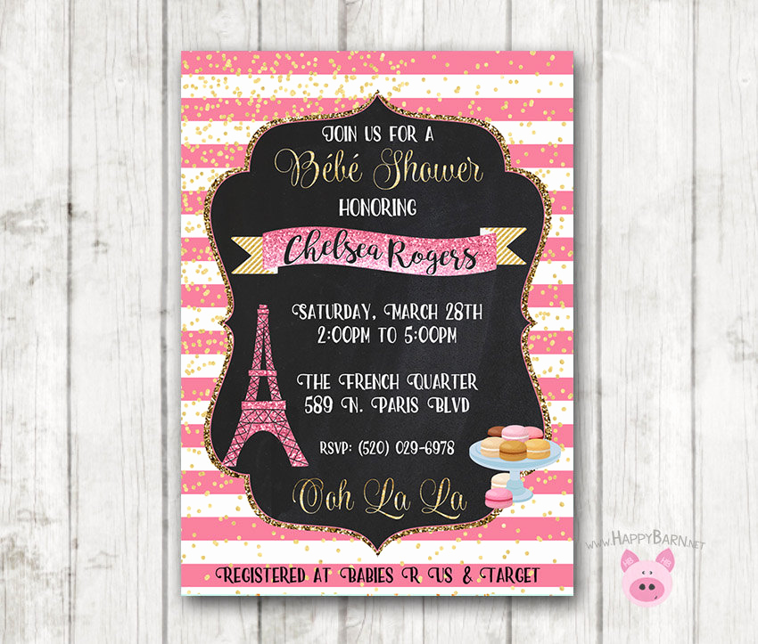 French Baby Shower Invitation Awesome Paris Baby Shower Invitation French Invitation London France