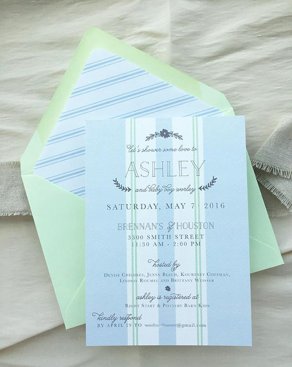 French Baby Shower Invitation Best Of Dusty Blue & Mint French Baby Shower Invitations – Charm & Fig