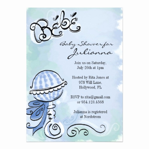 "French Baby Shower Invitation Fresh Bebe French Inspired Baby Shower Invitation 5"" X 7"