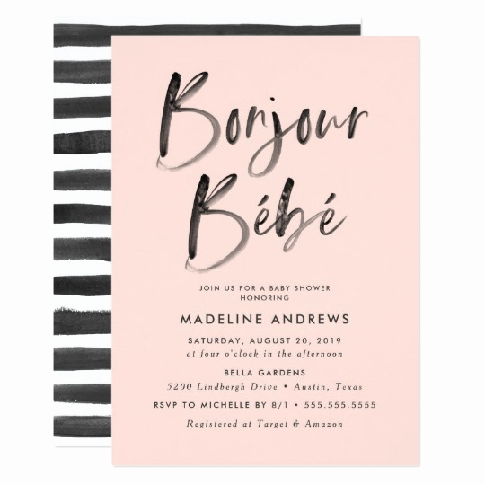 French Baby Shower Invitation Fresh Bonjour Bebe French Baby Shower Invitation