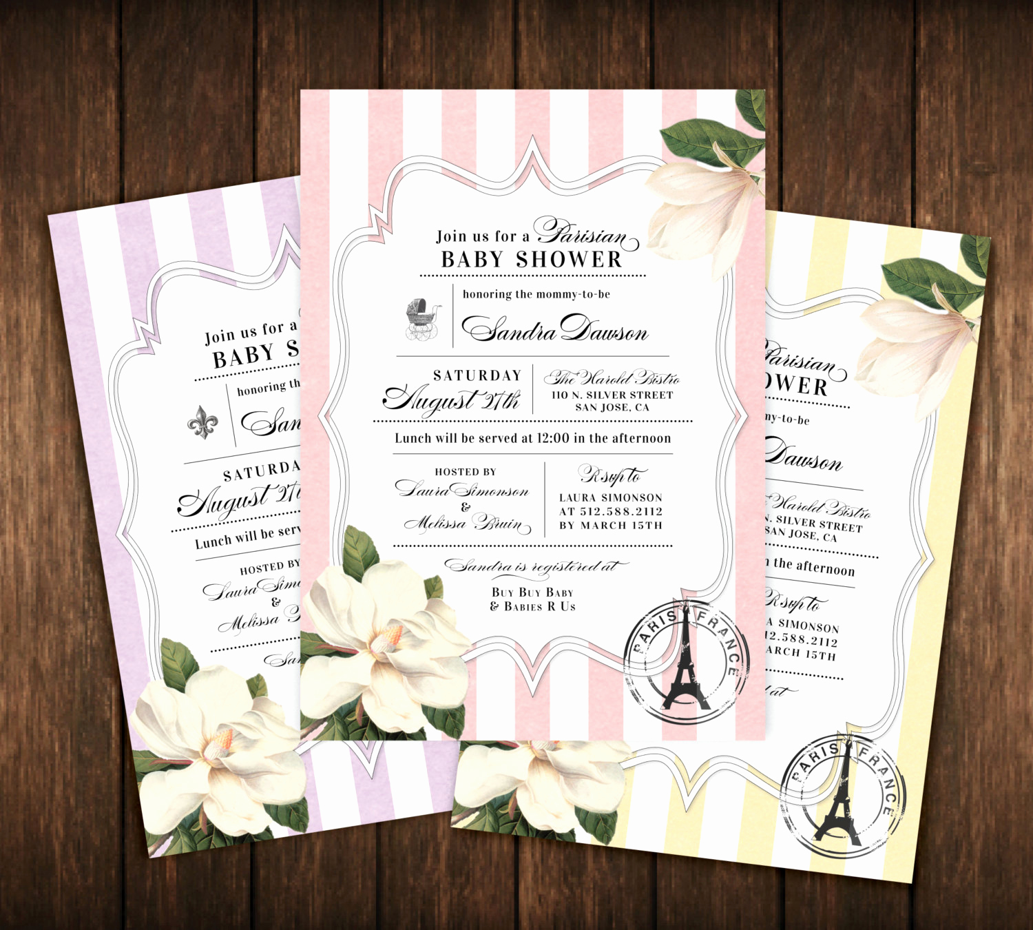 French Baby Shower Invitation Fresh Parisian French Baby Shower Invitations Paris France