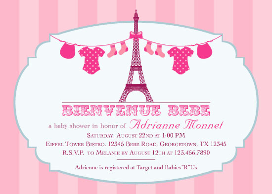 French Baby Shower Invitation Inspirational Baby Shower Invitations Baby French Affair at Minted