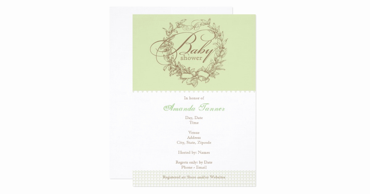 French Baby Shower Invitation Luxury French Baby Shower Invitation Green