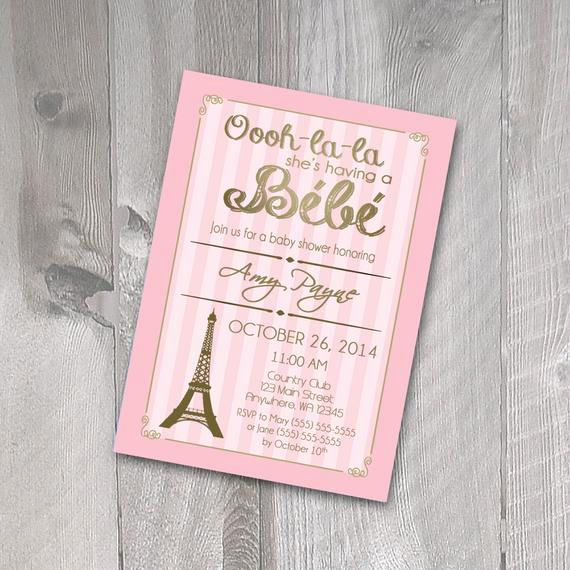 French Baby Shower Invitation Luxury Items Similar to Paris Baby Shower Invitation Printable