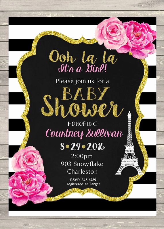 French Baby Shower Invitation New 25 Best Ideas About Paris Invitations On Pinterest