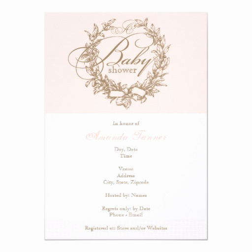 French Baby Shower Invitation New French Baby Shower Invitation Pink