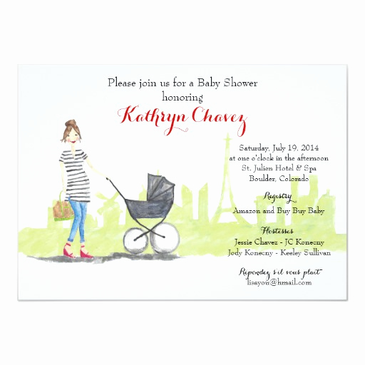 French Baby Shower Invitation New Parisian Mama French themed Baby Shower Invite Custom
