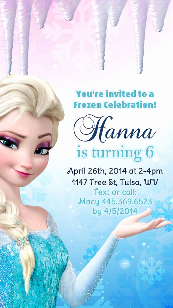 Frozen Birthday Invitation Template Awesome Frozen Birthday Party Invitation Templates