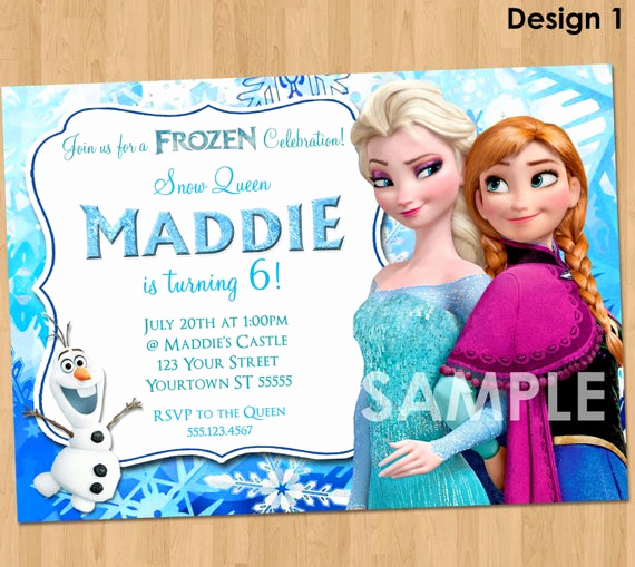 Frozen Birthday Invitation Template Beautiful Frozen Invitation Frozen Birthday Invitation Disney Frozen