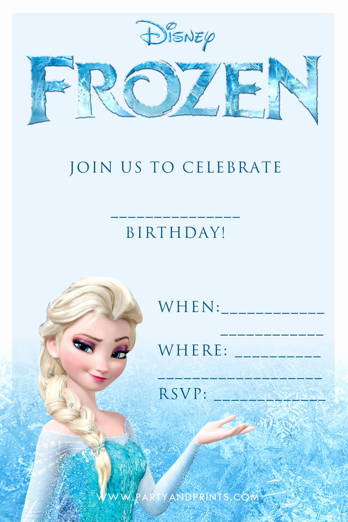 Frozen Birthday Invitation Template Fresh Free Frozen Invitation Birthday Ideas