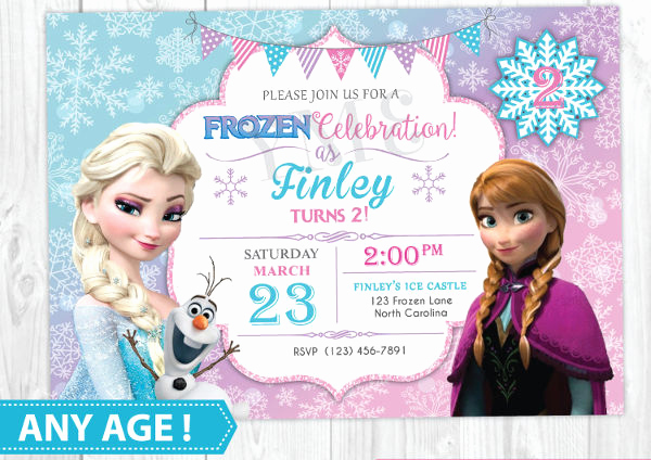 Frozen Birthday Invitation Template Inspirational 13 Frozen Invitation Templates Word Psd Ai