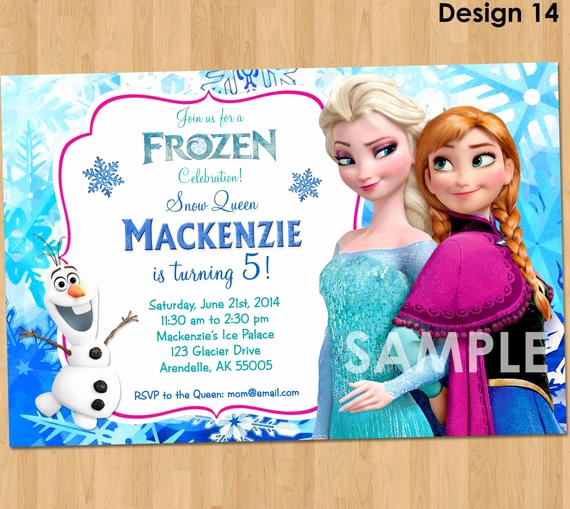 Frozen Birthday Invitation Template Inspirational Frozen Invitation Disney Frozen Invitation Printable