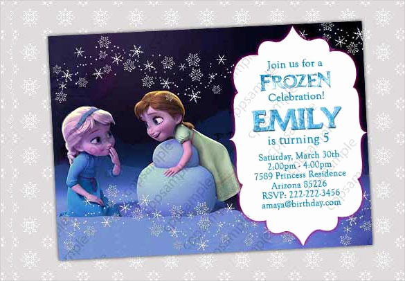 Frozen Birthday Invitation Template Lovely 23 Frozen Birthday Invitation Templates Psd Ai Vector