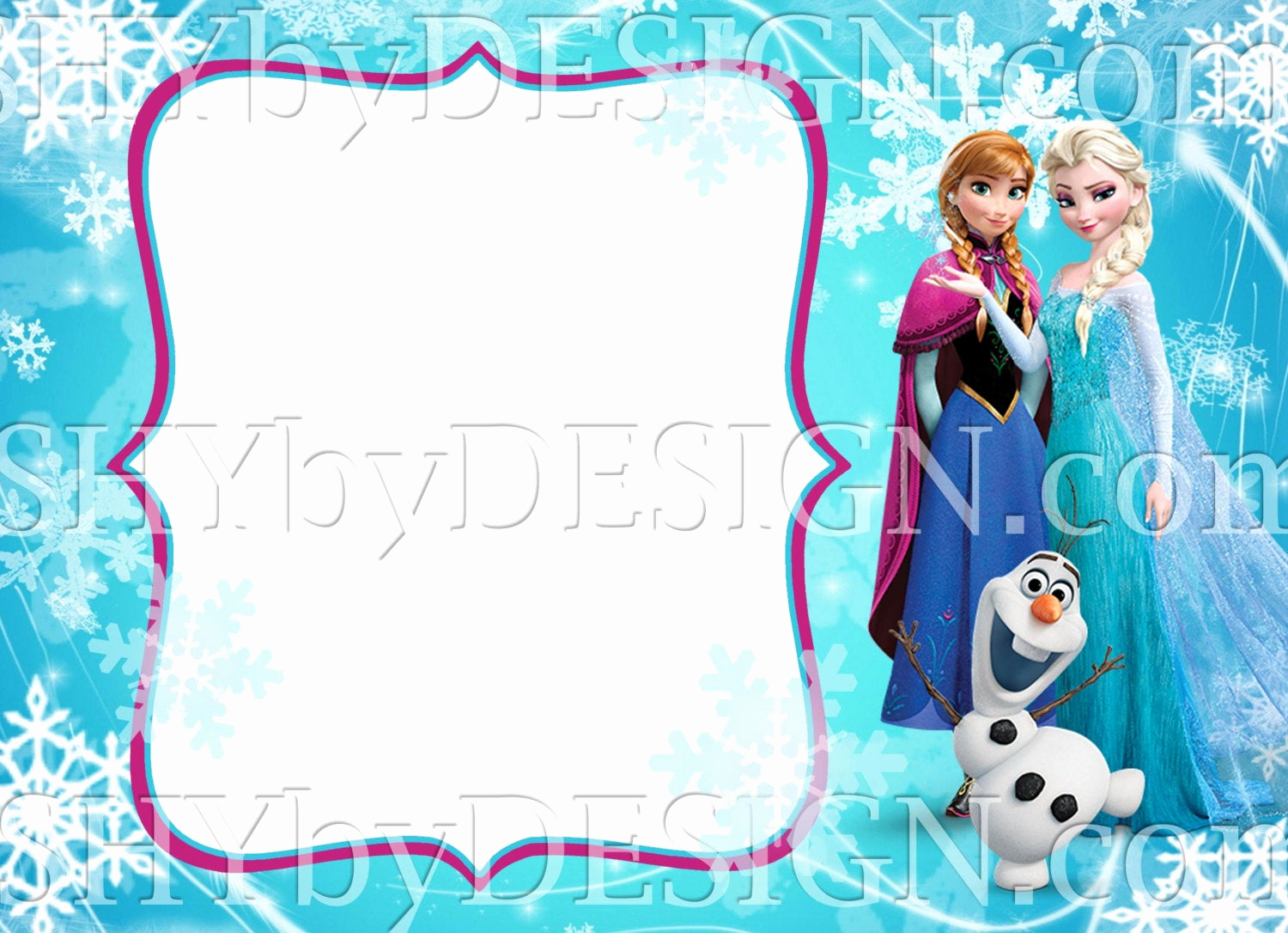 Frozen Birthday Invitation Template Lovely Diy Frozen Invitation Template