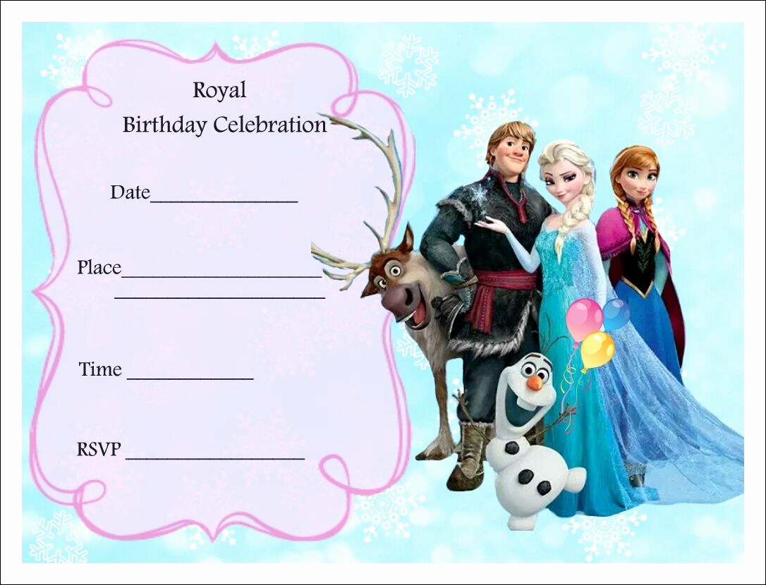 Frozen Birthday Invitation Template New Free Frozen Party Invitations Frozen Party