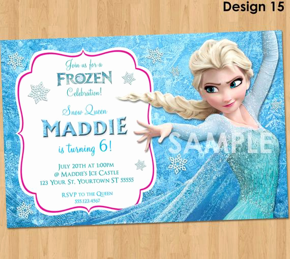 Frozen Birthday Invitation Template New Frozen Birthday Invitation Elsa Frozen Invitation Printable