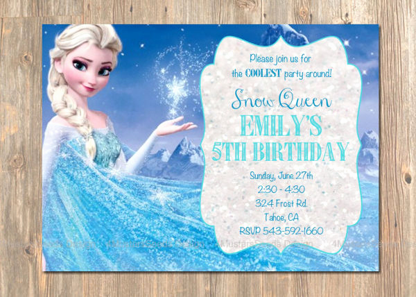 Frozen Birthday Invitation Template Unique 70 Birthday Invitation Designs & Examples Psd Ai