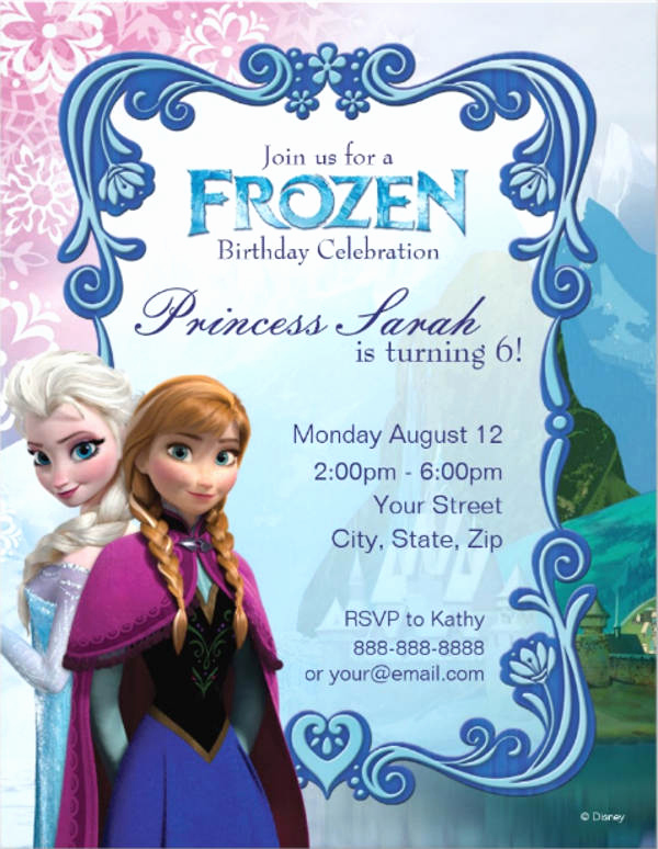 Frozen Birthday Invitation Template Unique 9 Frozen Party Invitation Templates Free Editable Psd