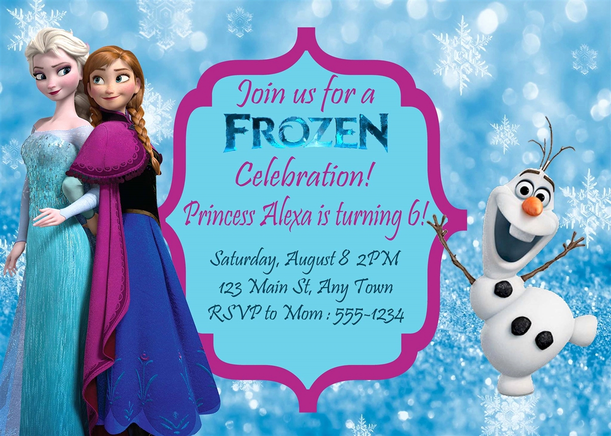 Frozen Birthday Invitation Template Unique Birthday Invitation Frozen theme