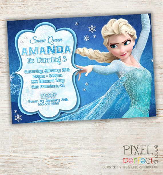 Frozen Birthday Invitation Templates Awesome 237 Best Frozen Birthday Party Images On Pinterest