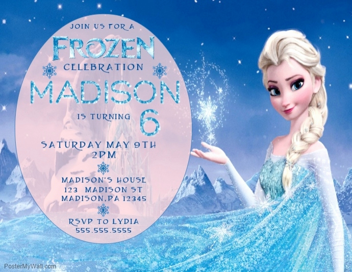 Frozen Birthday Invitation Templates Awesome Copy Of Frozen Birthday Invitation