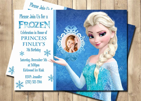 Frozen Birthday Invitation Templates Awesome Frozen Elsa Birthday Invitation Frozen Birthday Invitation