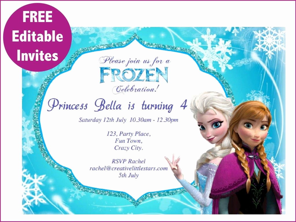Frozen Birthday Invitation Templates Awesome Frozen Free Printable Invitations Templates