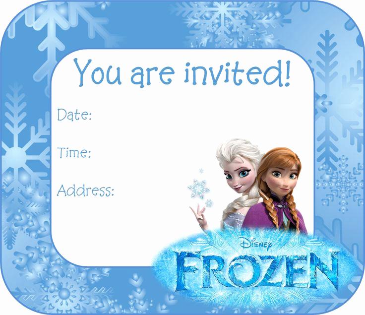 Frozen Birthday Invitation Templates Beautiful 25 Best Ideas About Free Frozen Invitations On Pinterest