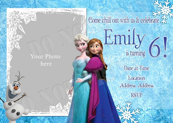 Frozen Birthday Invitation Templates Beautiful Elsa Frozen Birthday Party Invitation Ideas – Free