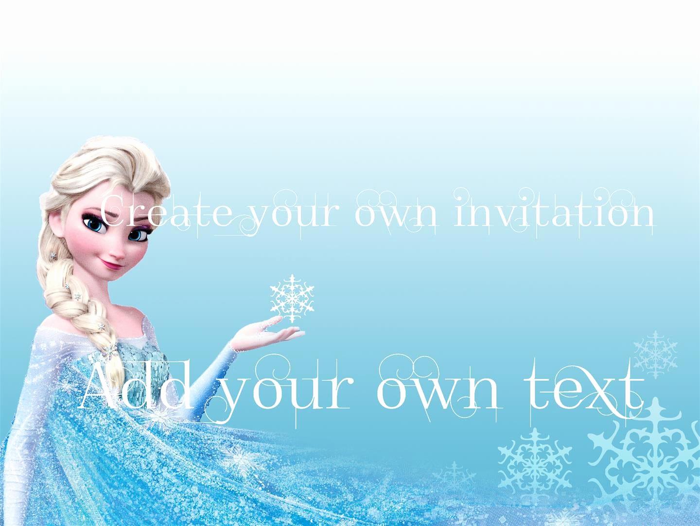 Frozen Birthday Invitation Templates Beautiful Free Download Frozen Invitations