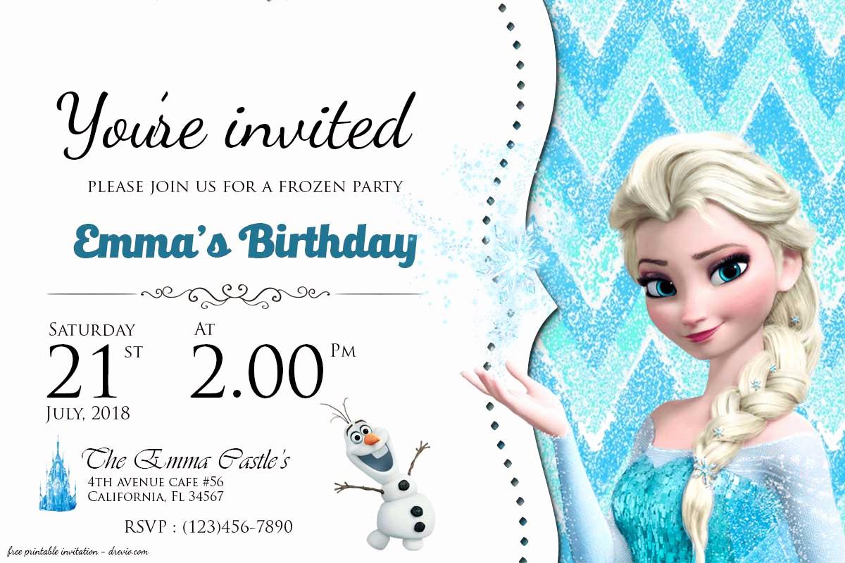 Frozen Birthday Invitation Templates Beautiful Free Frozen Birthday Invitation Templates