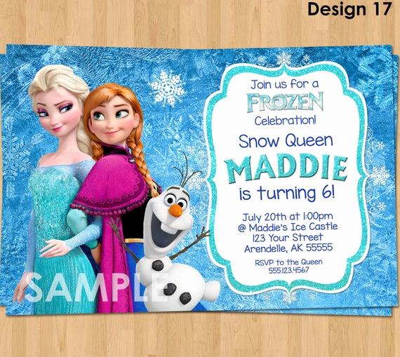 Frozen Birthday Invitation Templates Beautiful Frozen Invitation Frozen Birthday Invitation Disney Frozen
