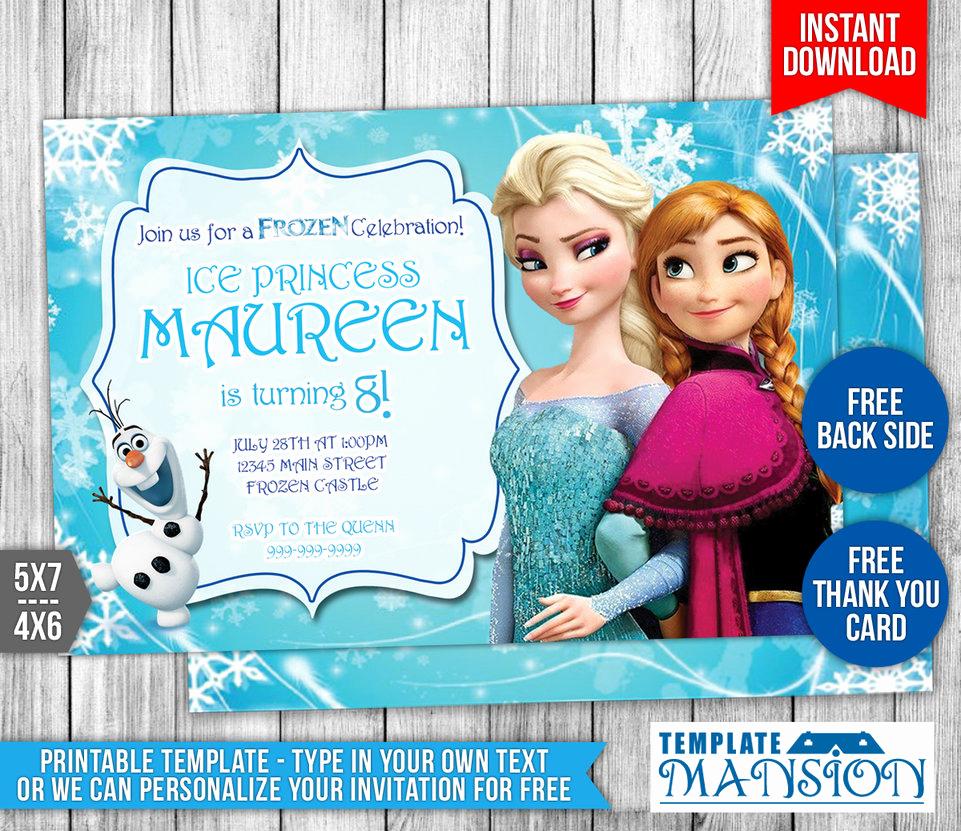 Frozen Birthday Invitation Templates Elegant Disney Frozen Birthday Invitation 1 by Templatemansion On