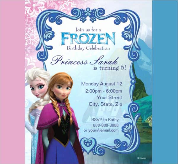 Frozen Birthday Invitation Templates Fresh 15 Birthday Invitation Templates In Pdf