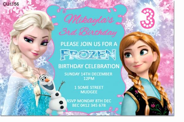 Frozen Birthday Invitation Templates Luxury Cu1156 Frozen Birthday Invitation Template Girls