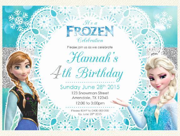 Frozen Birthday Invitation Templates New 12 Frozen Birthday Invitation Psd Ai Vector Eps