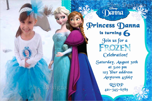 Frozen Birthday Party Invitation Template Awesome 23 Frozen Birthday Invitation Templates Psd Ai Vector