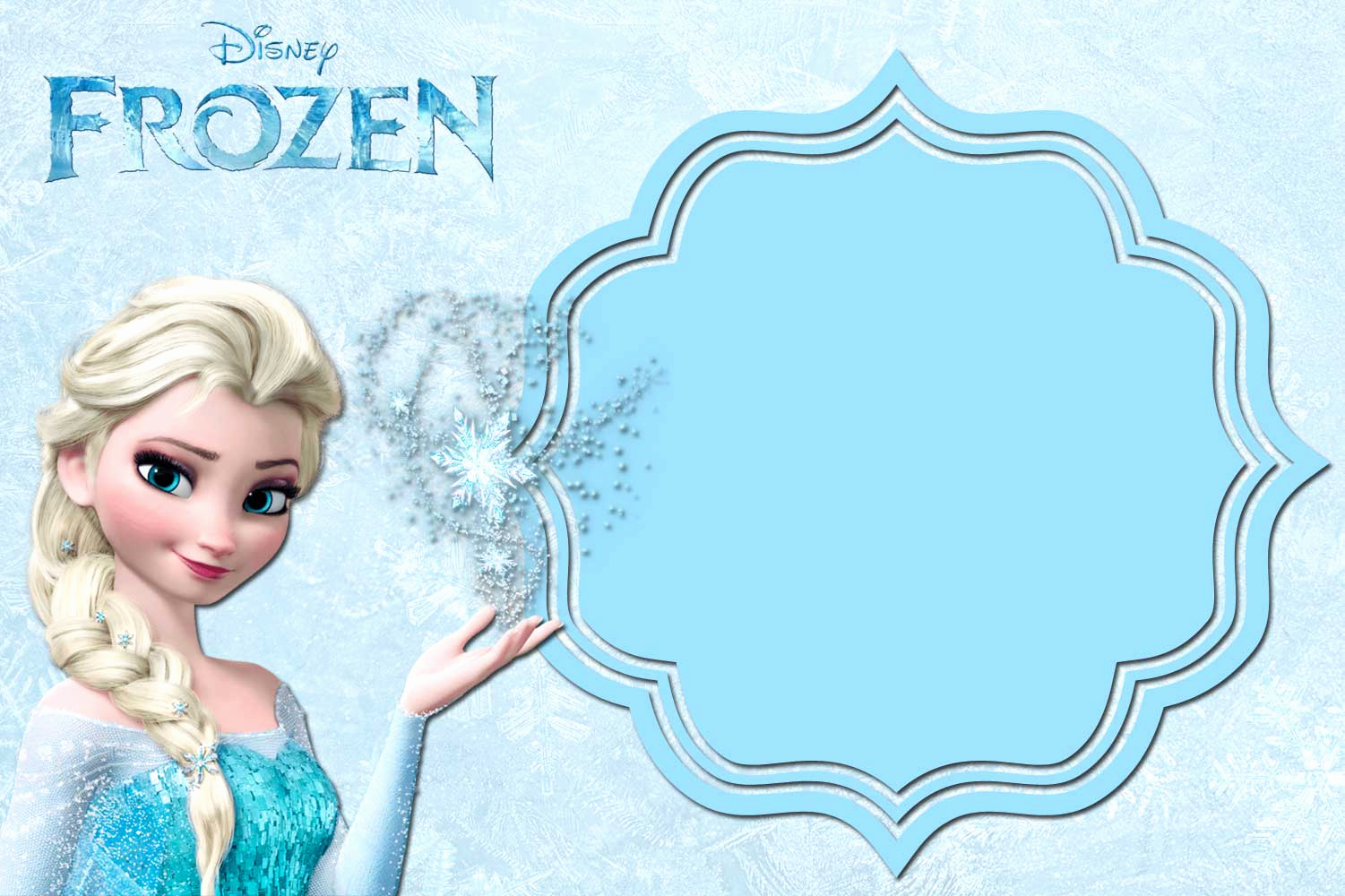 Frozen Birthday Party Invitation Template Awesome Free Printable Frozen Anna and Elsa Invitation Templates