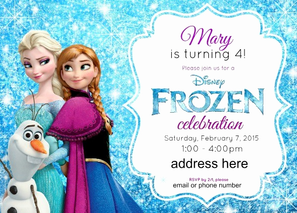 Frozen Birthday Party Invitation Template Best Of Disney S Frozen Birthday Party Ideas Pink Purple Blue
